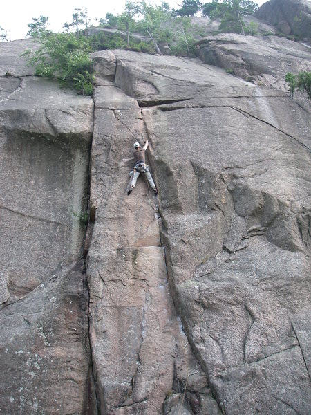At the second crux of Bagatellen.