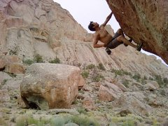 Rock Climbing Photo: Bouldering, Dine' Land, NM