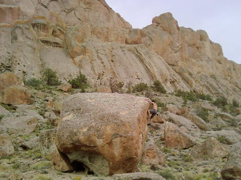 Rock Climbing Photo: Bouldering, Dine' Land, NM