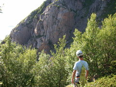 Rock Climbing Photo: Looking at Store Festvag from the main trail (whil...
