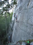 Rock Climbing Photo: Onsighting Never Never Land.