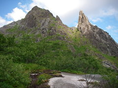 Rock Climbing Photo: The beautiful spire of Svolvaergeita from the appr...