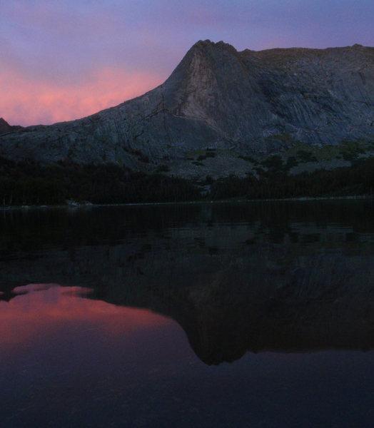 Rock Climbing Photo: Haystack sunset