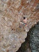 "Rock Climbing Photo: James ""liberating"" yet another bail bine..."