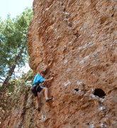 Rock Climbing Photo: Procrastinating on the good holds before heading i...
