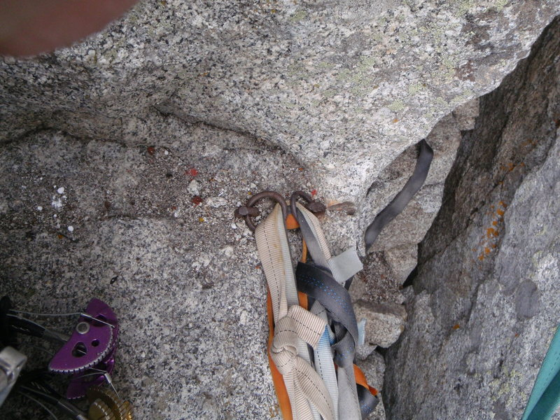 The Pitons at the Confessional Belay