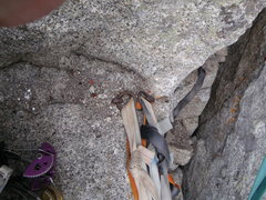 Rock Climbing Photo: The Pitons at the Confessional Belay