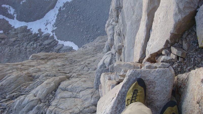 View from the Fresh Air Traverse.  Exposed, but easy going.