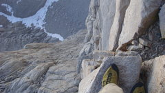 Rock Climbing Photo: View from the Fresh Air Traverse.  Exposed, but ea...