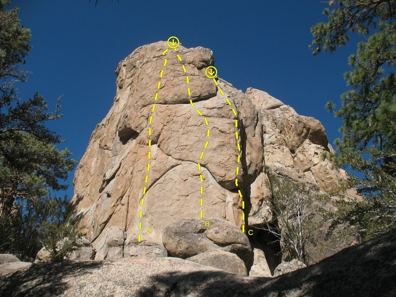Claim Jumper Wall (West Face), Holcomb Valley Pinnacles 