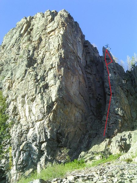 Rock Climbing Photo: The classic route up The Needle.