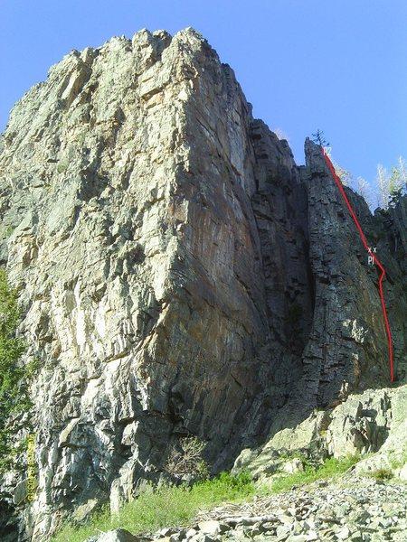 Rock Climbing Photo: The rap route is also a fun 5.8.