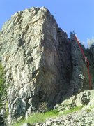 Rock Climbing Photo: The rap route is also a fun 5.8.