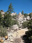 Rock Climbing Photo: The Mine Shaft, Holcomb Valley Pinnacles