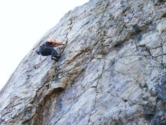Rock Climbing Photo: Leading Roadside.