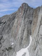 Rock Climbing Photo: The Wonderwall follows--approximately--the red lin...