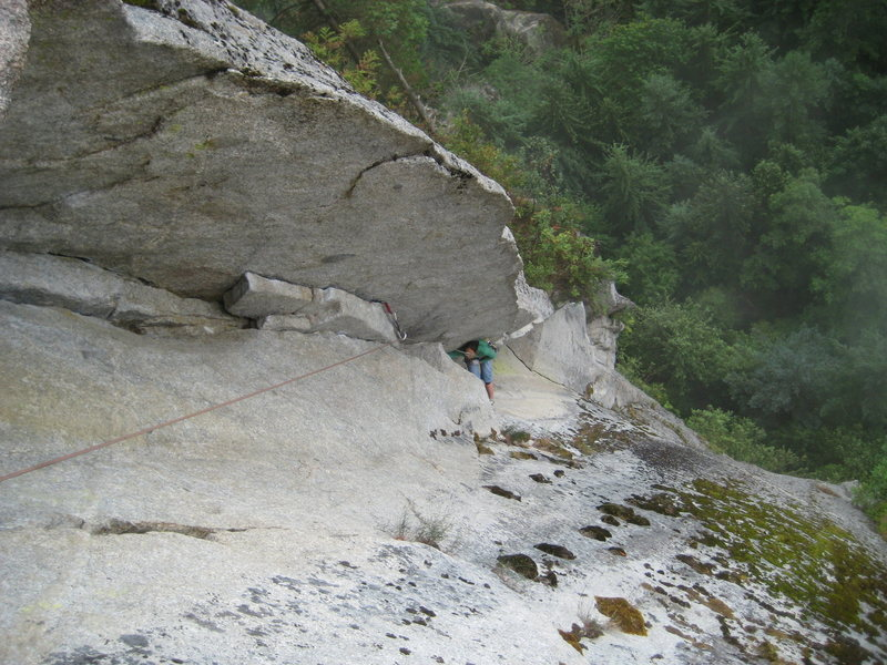 Rock Climbing Photo: confident flared chimney work on pitch 3