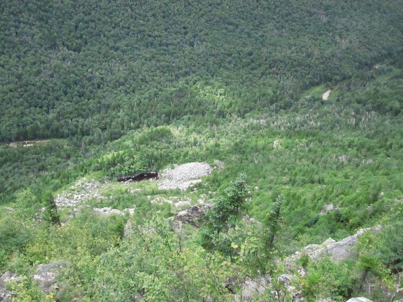Rock Climbing Photo: Terrain above the Black Knight.