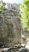 Rock Climbing Photo: what route is this?  FINALY sent the damn thing an...