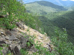 Rock Climbing Photo: The cliffs sandy summit.