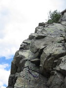 Rock Climbing Photo: The last pitch ramp. The rock in the crack is loos...
