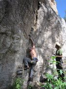 Rock Climbing Photo: Jesse belaying John or lassoing him at the start o...