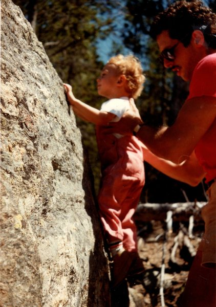 Dad showing me the ropes circa 1984