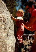 Rock Climbing Photo: Dad showing me the ropes circa 1984