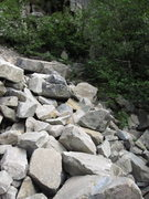 Rock Climbing Photo: Not exactly what I wanted to down climb this long ...