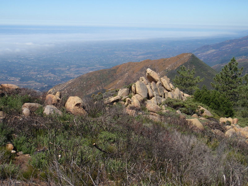 Rock Climbing Photo: Try the trail that heads west from the bench to th...