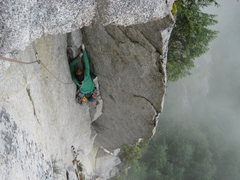 Rock Climbing Photo: climbing ak highway on a rainy august afternoon