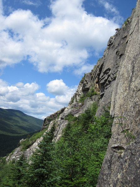 Rock Climbing Photo: Castle Keep is the white rock ridge going diagonal...