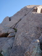 Rock Climbing Photo: Third Pitch - Notice the Y Crack - Great pro and r...