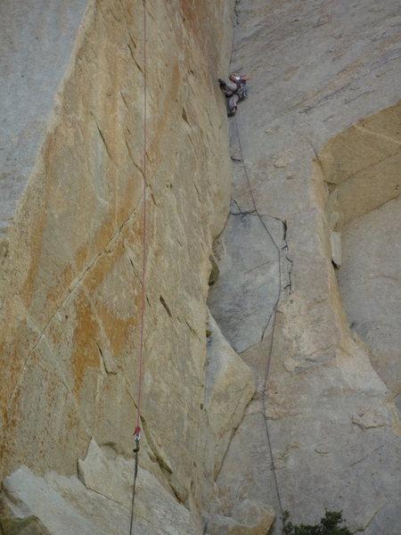 Rock Climbing Photo: Fishing for a piece!