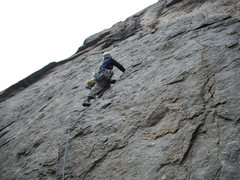 Rock Climbing Photo: RVA on the first real pitch of Twisted- headed tow...