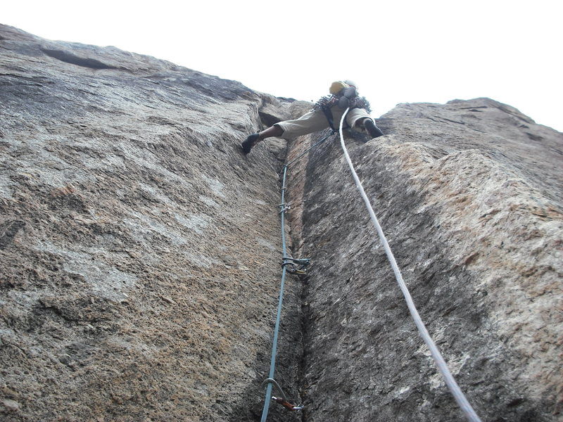 Rock Climbing Photo: RVA sending the crux on-sight.
