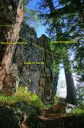 Rock Climbing Photo: Beta for the backside of Head Games (Motor Skills ...