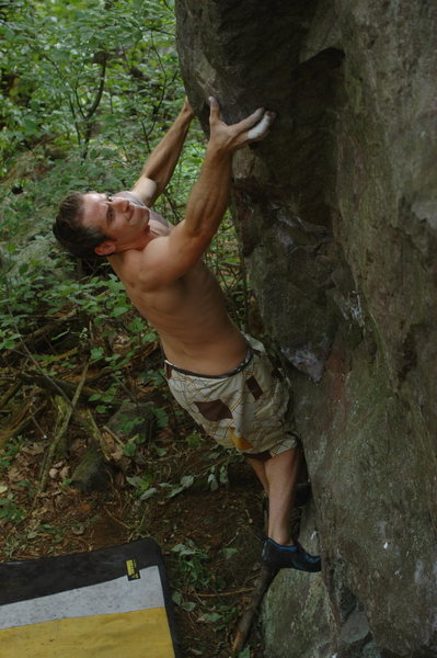 Rock Climbing Photo: Aaron at the spike on P.Stachio.