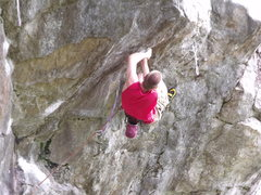 Rock Climbing Photo: Me on an Onsight attempt, so close!