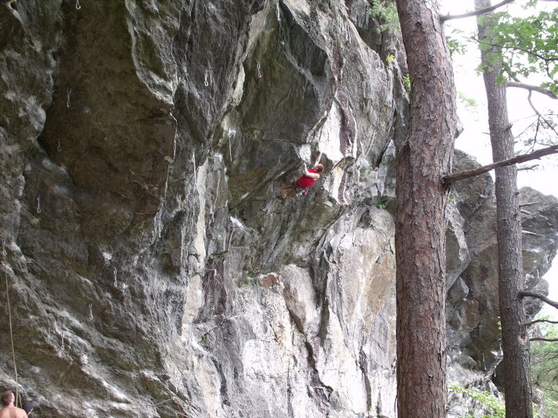 Rock Climbing Photo: still on the onsight, only to have my hopes dashed...
