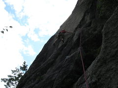 Rock Climbing Photo: the opening crux of the beast flake