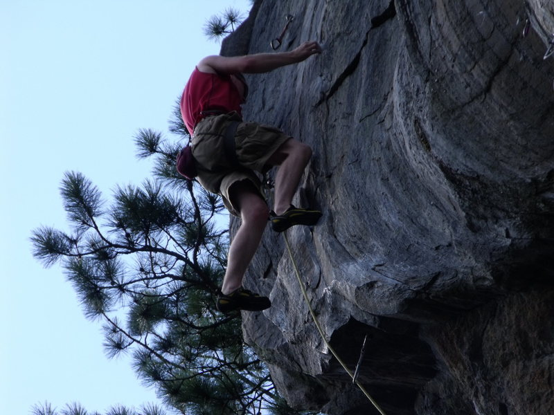 Rock Climbing Photo: Only one more hard move to go...