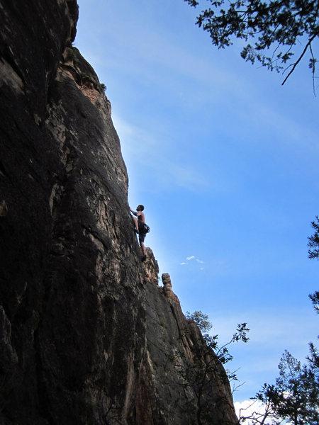Rock Climbing Photo: Cruxin'.