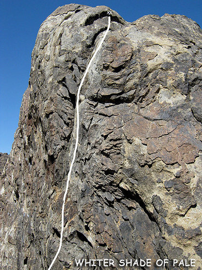 "Rock Climbing Photo: Most of ""Whiter Shade of Pale"". Photo by..."