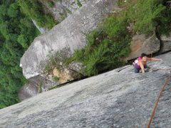 Rock Climbing Photo: Awesome position, pitch one