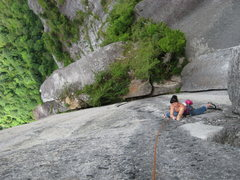 Rock Climbing Photo: short stemming section with tight hands at the end...