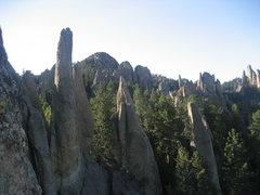 Rock Climbing Photo: Needles, South Dakota.  Tricouni Nail (Cerberus) 5...