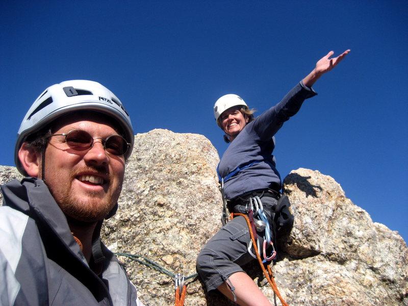 Top of Tricouni Nail.  Fun!