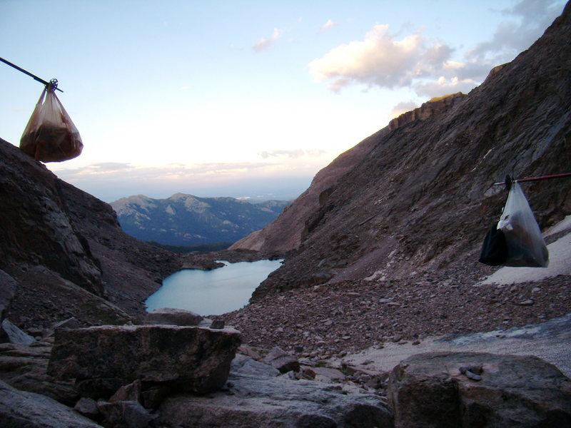 Marmot Proofing at Mills Glacier.  Longs Peak.  August 6th 2010