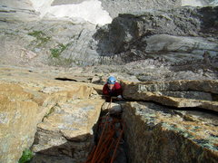 Rock Climbing Photo: Pat Peddy following low on Pervertical Sanctuary. ...
